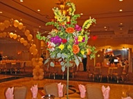 Wedding centerpiece with flowers