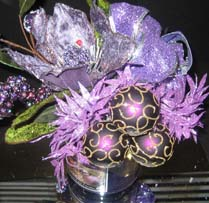 Lavendar christmas centerpiece ideas