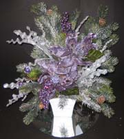 Lavendar christmas centerpiece for a unique wedding arrangement