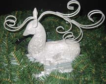 Raindeer Christmas Centerpiece for a Bridal arrangement