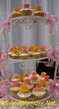 Three Tiers of individual Cupcakes as a wedding cake