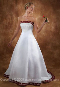 Wedding dress with color on the top