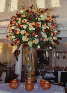 Wedding flower arrangement ideas with multicolored flowers