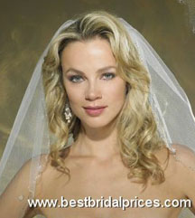 Wedding hairstyles for curly hair with a veil