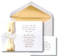 White and gold wedding invitation ideas