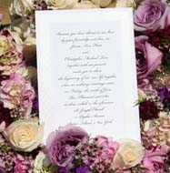 Seasonal wedding invitation ideas
