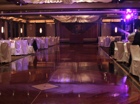 Wedding photography lighting tips inside the reception hall