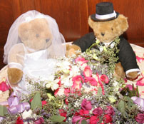 Cute bride and groom teddy bear Centerpieces