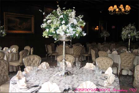 Tall centerpiece with flowers