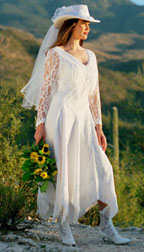 Corset wedding dresses of country wedding dress hat and boots