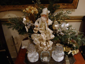 Winter Wedding Reception Centerpiece -  Decorated Christmas Tree