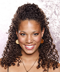 African American curly hairstyle for a bride