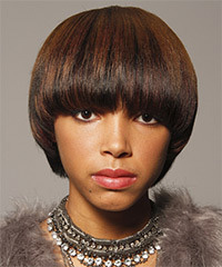 Lovely African American Wedding Hairstyles for short straight hair