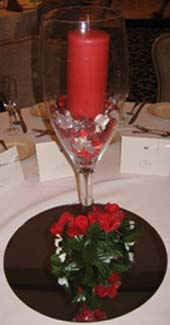 Creative Candle Centerpiece Ideas with red candle on mirror