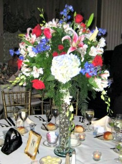 Large floral wedding centerpiece