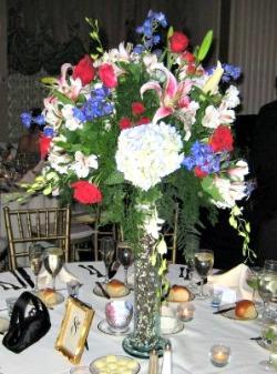 Large floral wedding centerpiece