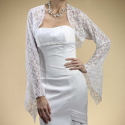 Christmas wedding gowns with lacy shawl