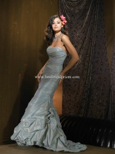 Colored wedding dresses of silver with beading