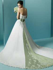 Colored wedding dresses with a touch of grey