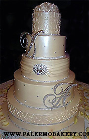 Elegant wedding cakes with initials