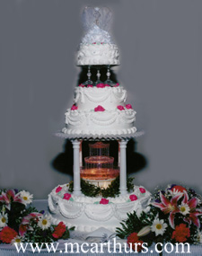 Fountain Wedding Cakes