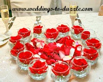 Free Wedding Checklist Floating Rose Centerpiece
