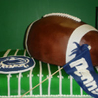 Football themed grooms cake picture