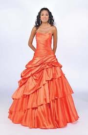 Halloween wedding ideas with orange wedding dresses