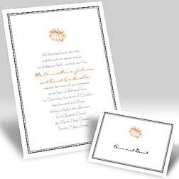 Halloween wedding ideas of pumpkins of wedding invitations