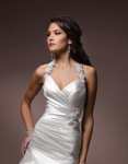 Tight fitting halter wedding dresses