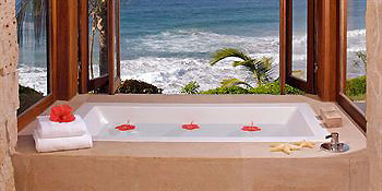 Honeymoon ideas hot tub overlooking the beach