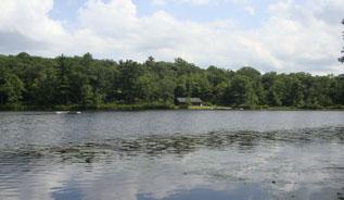 A peaceful honeymoon on a lake.