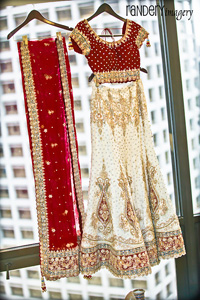 Indian Wedding Dresses Sari with RedShawl