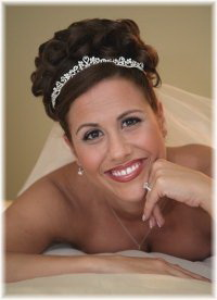 Wedding day hairstyles in an updo