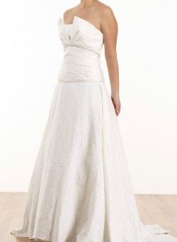 Linen wedding dresses