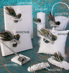 Peacock wedding accessories
