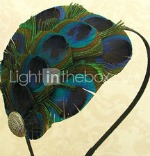 Peacock wedding headband