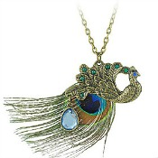 Peacock wedding necklace