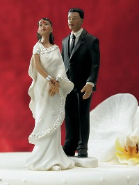 Indian couple cake topper
