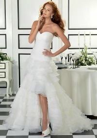 Sexy wedding dresses long and short gown