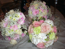 Spring wedding theme bouquets