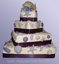 Tropical wedding reception themes wedding cake