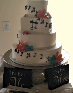 Wedding Cake Designs with musical notes