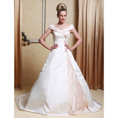 Beautiful wedding dress with color
