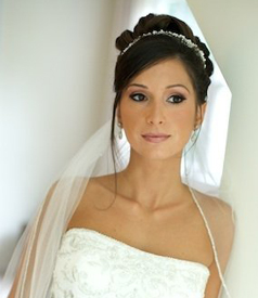Wedding flowers and wedding hairstyle