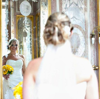 Wedding Photography Techniques Mirrored Picture