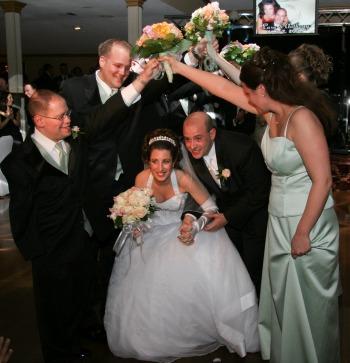 Pic of the Brida lCouple entering the wedding reception