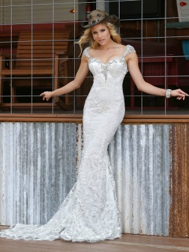 Western Wedding Dress Picture