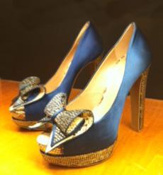 1940s theme wedding shoes