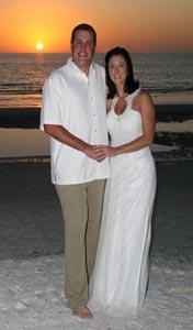 Beach Wedding Ideas with sunset